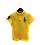 ラルフローレン RALPH LAUREN ポロシャツ 半袖 鹿の子 ビッグポニー M 黄色 イエロー /YI