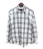 バーバリーブラックレーベル BURBERRY BLACK LABEL シャツ チェック 長袖 2 白 ホワイト /MN
