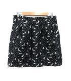 アクチュエル actuel 台形スカート ミニ 花柄 レース 2 黒 ブラック グレー /YK