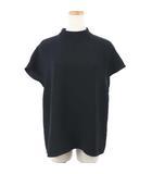 デミルクス ビームス Demi-Luxe BEAMS ブラウス ハイネック フレンチスリーブ イレヘム 半袖 36 黒 ブラック /AS
