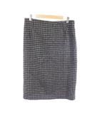 トラディショナルウェザーウェア Traditional Weatherwear スカート タイト ミモレ ロング 千鳥格子 ウール M グレー /RI31