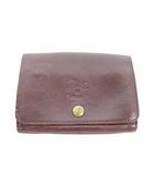 イルビゾンテ IL BISONTE 財布 二つ折り 小銭入れ レザー ワンポイント ロゴ 茶色 ブラウン /TM