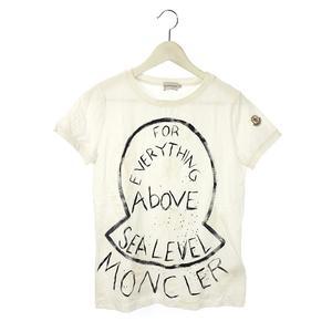モンクレール MONCLER ペイント Tシャツ マグリア MAGLIA ホワイト 白 M カットソー 半袖 トップス レディース