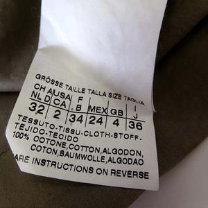 スポーツマックスコード マックスマーラ SPORTMAX CODE シャツ ジャケット ブラウス 半袖 リボン ロゴ プレート S カーキ 国内正規品 レディース