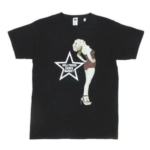 ハリウッドランチマーケット HOLLYWOOD RANCH MARKET マリリンモンロー ピンナップ Tシャツ カットソー 半袖 サイズ1 黒 ブラック メンズ