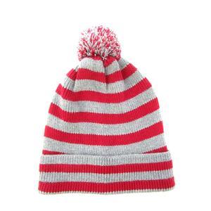 b927402004430 ベビーギャップ BABY GAP ジュニア ニット帽 帽子 ニットキャップ ボーダー 子供 グレー レッド M/