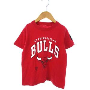 ヴィンテージ VINTAGE スターター STARTER キッズ CHICAGO BULLS Tシャツ 半袖 カットソー トップス レッド メンズ