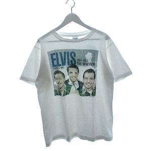 ヴィンテージ VINTAGE 80's エルヴィス プレスリー ELVIS Tシャツ USA製 1988 ANDY'S Tee shirts 両面プリント ホワイト L メンズ