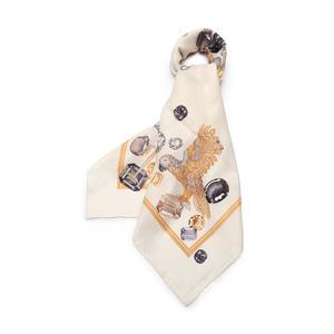 カルティエ Cartier スカーフ アイボリー 小物 シルク レディース