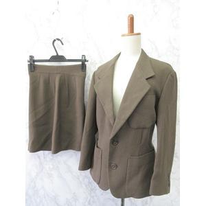 トキオクマガイ TOKIO KUMAGAI スーツ セットアップ 2B キュロット パンツ ショート ウール こげ茶系 M レディース