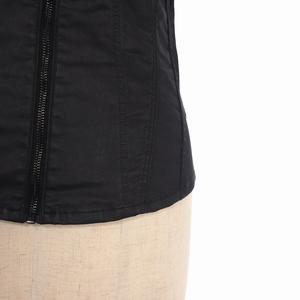 未使用品 ジースターロウ G-Star RAW Lynn Slim Zip Shirt ノースリーブ ストレッチ スリム ジップシャツ XS ブラック 黒 D05203-D011-082 国内正規 レディース