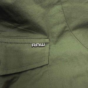 未使用品 ジースターロウ G-Star RAW Rovic Long Boyfriend Shirt ロビック ロング ボーイフレンド ミリタリー シャツ 半袖 ロゴ M カーキ D01376-3315-724 国内正規 レディース