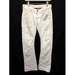 ラングラー WRANGLER AKM デニム ジーンズ パンツ ダメージ加工 S 白 ホワイト /KH ■CA12 メンズ