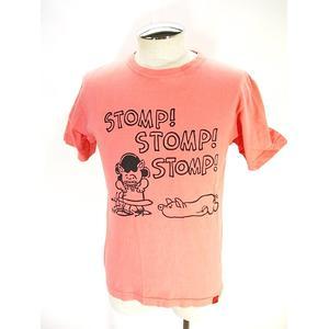 ステュディオダルチザン STUDIO D'ARTISAN Tシャツ カットソー 半袖 プリント 染め加工 サーモンピンク S メンズ