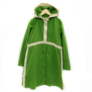 シビラ SYBILLA コート スプリング ロング丈 無地 フード付き M L 緑 グリーン ベージュ /SY7 レディース