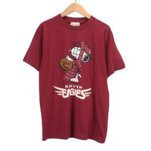 未使用品 ピーナッツ PEANUTS スヌーピー 楽天イーグルス Tシャツ 半袖 S 赤 レッド メンズ レディース